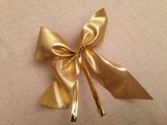 "Golden ""bow"" on a Christmas tree"